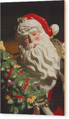 Santa Claus - Antique Ornament - 10 Wood Print by Jill Reger