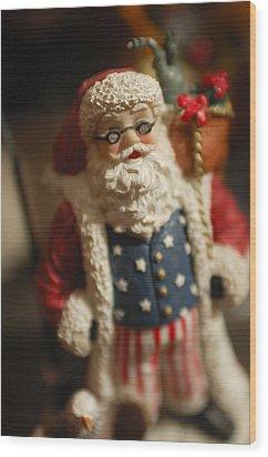 Santa Claus - Antique Ornament - 15 Wood Print by Jill Reger