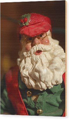 Santa Claus - Antique Ornament - 16 Wood Print by Jill Reger
