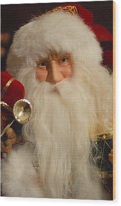 Santa Claus - Antique Ornament - 17 Wood Print by Jill Reger