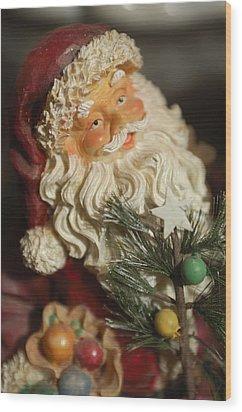 Santa Claus - Antique Ornament - 18 Wood Print by Jill Reger
