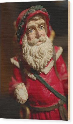 Santa Claus - Antique Ornament - 21 Wood Print by Jill Reger