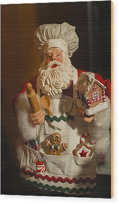 Santa Claus - Antique Ornament - 22 Wood Print by Jill Reger