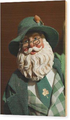 Santa Claus - Antique Ornament - 23 Wood Print by Jill Reger
