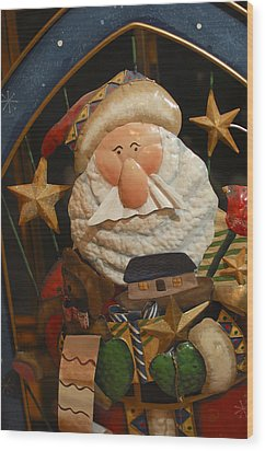 Santa Claus - Antique Ornament - 27 Wood Print by Jill Reger