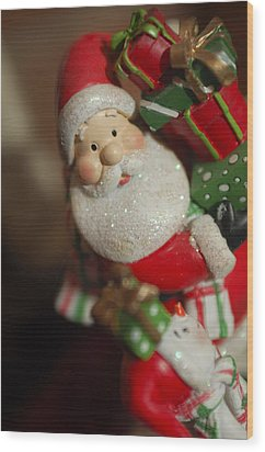 Santa Claus - Antique Ornament - 28 Wood Print by Jill Reger