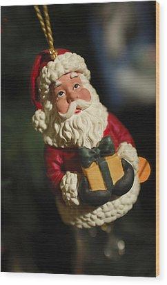 Santa Claus - Antique Ornament - 31 Wood Print by Jill Reger