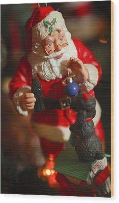 Santa Claus - Antique Ornament - 33 Wood Print by Jill Reger