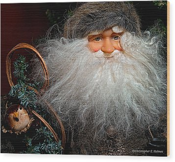 Santa Claus Wood Print by Christopher Holmes