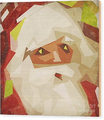 Santa Claus Wood Print by Setsiri Silapasuwanchai