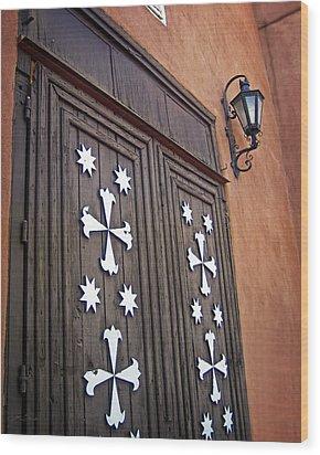 Santa Cruz De La Canada Mission Doors Wood Print by Julie Magers Soulen