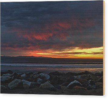 Wood Print featuring the photograph Santa Cruz Rocks by Michael Gordon