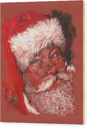 Santa  Wood Print by Debra Jones