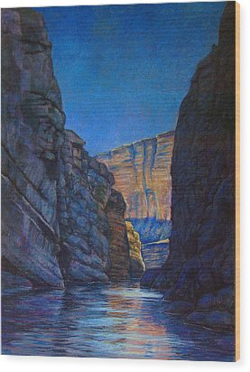 Santa Elena Canyon Big Bend Texas Wood Print by Dan Terry