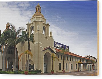 Wood Print featuring the digital art Santa Fe Depot by Photographic Art by Russel Ray Photos