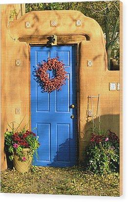 Wood Print featuring the photograph Santa Fe Door by John Babis