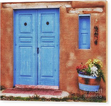 Santa Fe Doorway Wood Print