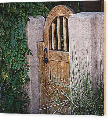 Wood Print featuring the photograph Santa Fe Gate by Patrice Zinck