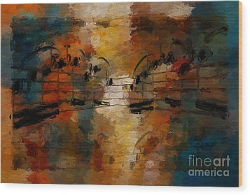 Wood Print featuring the digital art Santa Fe Intermezzo by Lon Chaffin
