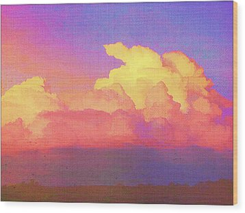 Santa Fe Sunset Wood Print