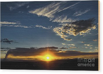 Santa Fe Wildfire At Sunset Wood Print