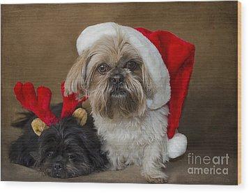 Santa I Am Tired  Wood Print by Nicole Markmann Nelson