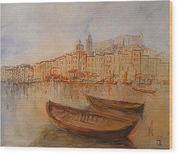 Santa Margherita Ligure Wood Print by Juan  Bosco