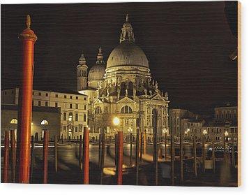 Santa Maria Della Salute Wood Print by Marion Galt