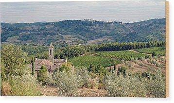 Santa Maria Novella Priory Tuscany Wood Print by Mathew Lodge