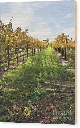 Santa Maria Vineyard Wood Print by Sharon Foster