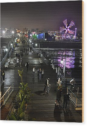 Wood Print featuring the photograph Santa Monica by Gandz Photography