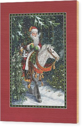 Santa Of The Northern Forest Wood Print by Lynn Bywaters