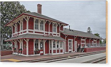 Wood Print featuring the photograph Santa Paula Station by Michael Gordon