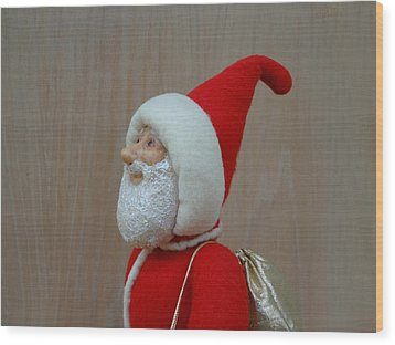 Santa Sr. - Keeping The Faith Wood Print by David Wiles