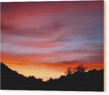 Santa Susana Sundown Wood Print