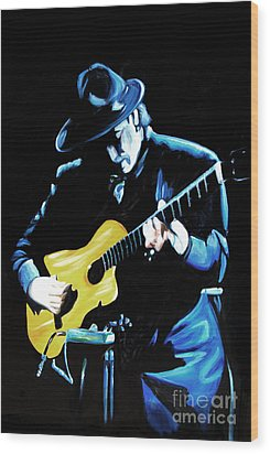 Santana Wood Print by Nancy Bradley
