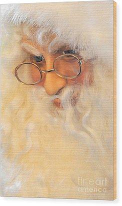 Santa's Beard Wood Print by Vinnie Oakes