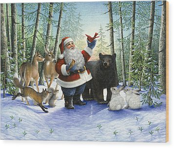 Santa's Christmas Morning Wood Print by Lynn Bywaters