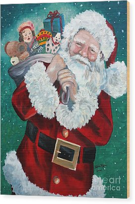 Santa's Coming To Town Wood Print