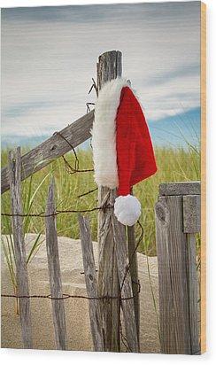 Santa's Downtime Wood Print