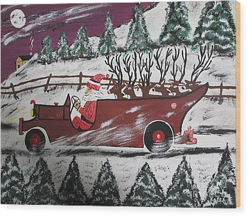 Santa's Truckload Wood Print by Jeffrey Koss