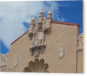 Wood Print featuring the photograph Sante Fe Theatre by Sylvia Thornton