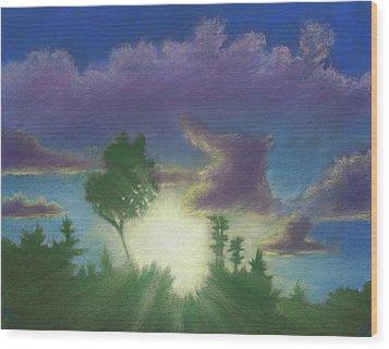 Santee Sunset 02 Wood Print