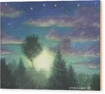 Santee Sunset 03 Wood Print