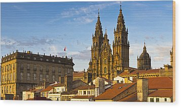 Wood Print featuring the photograph Santiago De Compostela Cathedral Galicia Spain by Pablo Avanzini