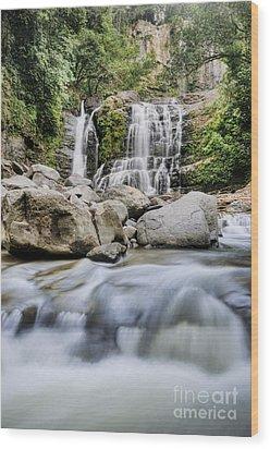 Santo Cristo Falls Wood Print by Oscar Gutierrez