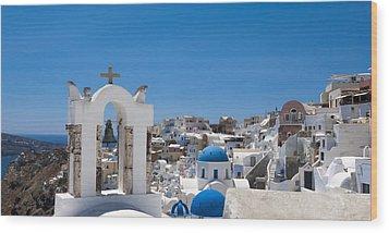 Santorini Mid-summer Day Wood Print