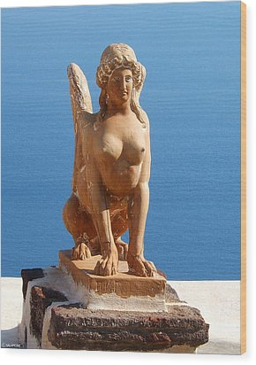 Santorini Sphynx Wood Print