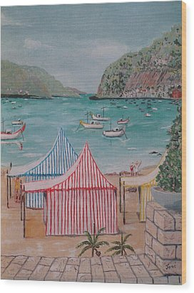 Sao Martinho Do Porto Wood Print by Hilda and Jose Garrancho