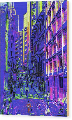 Sao Paulo Downtown At Night Wood Print by Steve Ohlsen